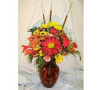 Bountiful Fall Vase in New Paltz NY, The Colonial Flower Shop