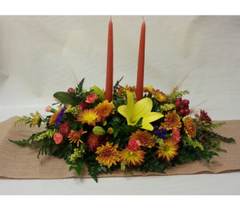 FALL TABLE STUNNER in New Paltz NY, The Colonial Flower Shop