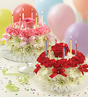 Birthday Flower Cake in Homer NY, Arnold's Florist & Greenhouses & Gifts