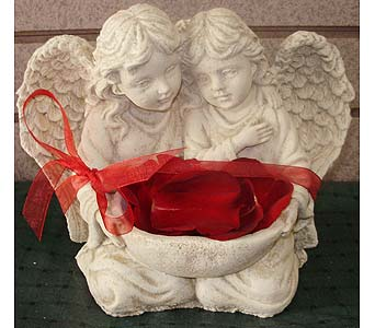 DOUBLE ANGEL STATUE(LOCAL DELI in Circleville OH, Wagner's Flowers