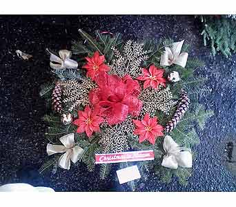 CHRISTMAS PILLOW in Medford NY, Sweet Pea Florist