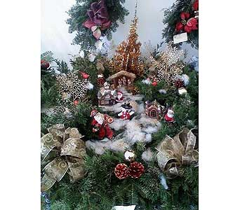 DELUXE CHRISTMAS GRAVE BLANKET in Medford NY, Sweet Pea Florist