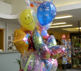 Huddart''s Up Up and Away Balloon Bouquet in Salt Lake City UT, Huddart Floral