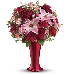 Teleflora's Red Hot Bouquet in Yellowknife NT, Rebecca's Flowers, Too