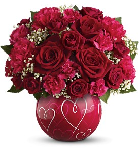 Teleflora's Heart of Hearts Bouquet - Deluxe in Miami Beach FL, Abbott Florist