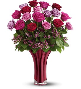 Teleflora's Ruby Nights Bouquet - Deluxe in Grand Ledge MI, Macdowell's Flower Shop