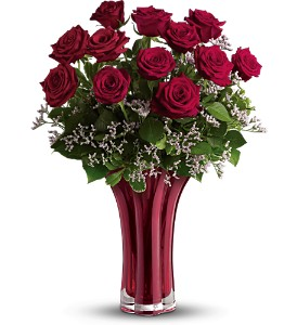 Teleflora's Ruby Nights Dozen in Surrey BC, Brides N' Blossoms Florists