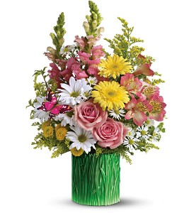 Teleflora's Grass is Greener Bouquet - Deluxe in Crown Point IN, Debbie's Designs