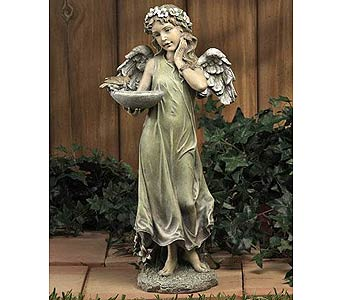Angel with Bird Feeder in Greenfield IN, Penny's Florist Shop, Inc.