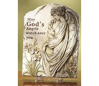 May God''s Angels Watch Over You Stone (Large) in Greenfield IN, Penny's Florist Shop, Inc.