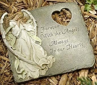 Angel Memorial Stepping Stone in Greenfield IN, Penny's Florist Shop, Inc.