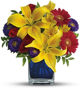 Teleflora's Blue Caribbean in Reno NV, Bumblebee Blooms Flower Boutique
