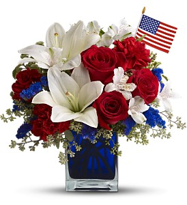 America the Beautiful by Teleflora in Hilton NY, Justice Flower Shop