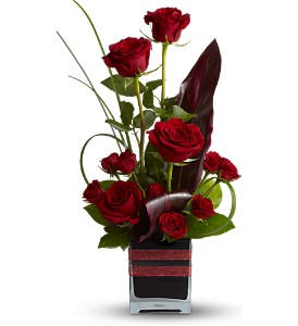 Teleflora's Romance Roses in Laurel MD, Rainbow Florist & Delectables, Inc.