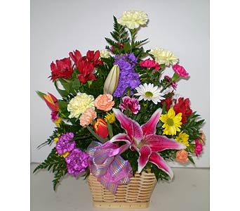 Pretty N Pastel Basket in Falmouth MA, Falmouth Florist 508-540-2020