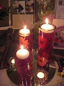 Gerbera Lights Centerpiece in Guelph ON, Patti's Flower Boutique