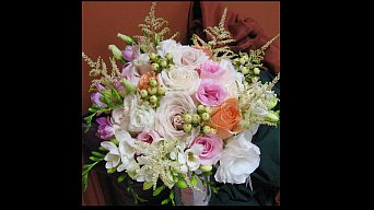 Soft pastel bouquet in Guelph ON, Patti's Flower Boutique