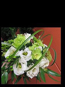 Cream and Green Bouquet in Guelph ON, Patti's Flower Boutique