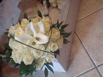 White Rose Calla in Guelph ON, Patti's Flower Boutique