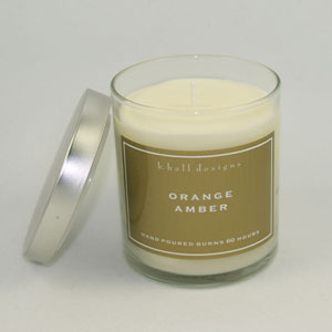 KHall Orange Amber Candle in Kentfield CA, Paradise Flowers