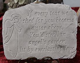If every tear we shed~ Memory Stone in Alexandria MN, Broadway Floral