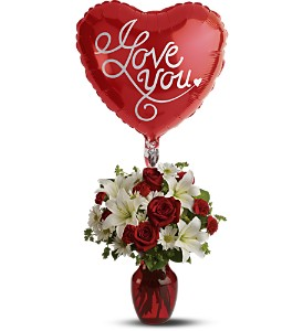 Be My Love with Balloon in Casper WY, Keefe's Flowers