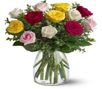 Mix Rose Bouquet in Houston TX, Classy Design Florist