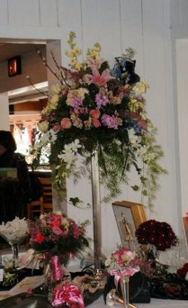 High Top on Silver Base in Tuckahoe NJ, Enchanting Florist & Gift Shop