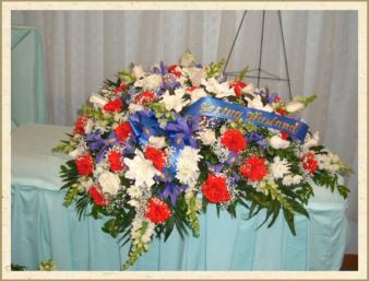 Patriot casket cover in Weymouth MA, Hartstone Flower, Inc.