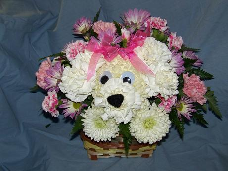 Puppy Basket in Crown Point IN, Debbie's Designs