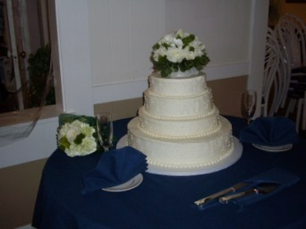 White Cake Topper in Tuckahoe NJ, Enchanting Florist & Gift Shop