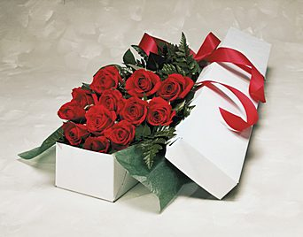 One Dozen Red Roses In A Box in Wading River NY, Forte's Wading River Florist