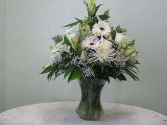 white vase in Weymouth MA, Hartstone Flower, Inc.