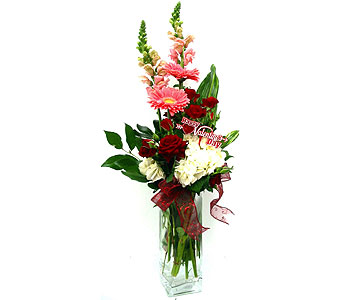 VF113 ''Twisted Love'' Floral Arrangement in Oklahoma City OK, Array of Flowers & Gifts