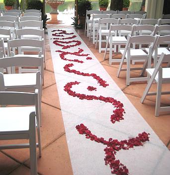 Rose Petal Aisle Swirls in Eugene OR, Dandelions Flowers