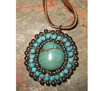 Turquoise Silver Pendant in Staten Island NY, Grapevine Garden and Florist