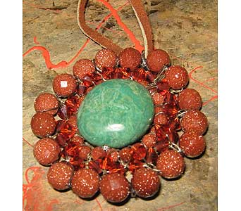 Turquoise Gold Stone Pendant in Staten Island NY, Grapevine Garden and Florist