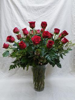 Two dozen roses in Chapel Hill NC, Floral Expressions and Gifts