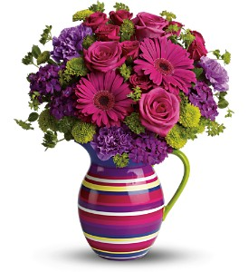 Teleflora's Rainbow Pitcher Bouquet - Deluxe in Surrey BC, Brides N' Blossoms Florists