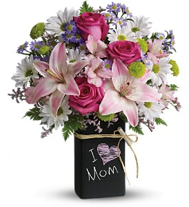 Teleflora's Chalk It Up Bouquet - Deluxe in Campbell CA, Bloomers Flowers
