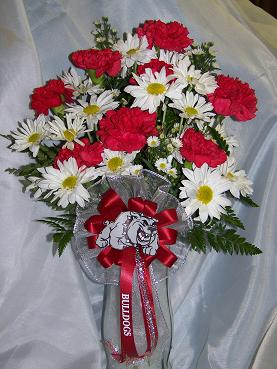Bulldog Spirit Vase in Crown Point IN, Debbie's Designs