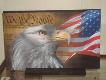 Eagle plaque in Madisonville KY, Exotic Florist & Gifts