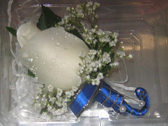 White Boutonni�re in Belford NJ, Flower Power Florist & Gifts