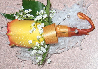 Yellow  Boutonni�re in Belford NJ, Flower Power Florist & Gifts
