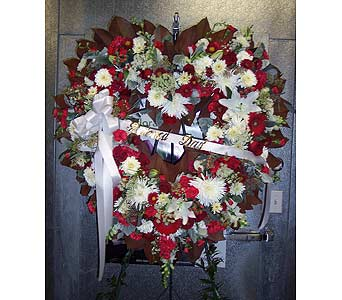 RED AND WHITE OPEN HEART in Port Chester NY, Floral Fashions
