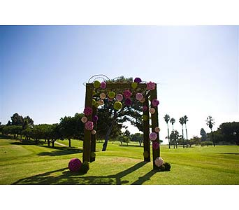 Ceremony in West Los Angeles CA, Westwood Flower Garden