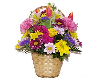 Spring Blossoms Basket in Wading River NY, Forte's Wading River Florist