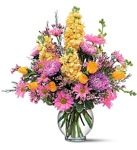 Yellow and Lavender Delight in Naples FL, Gene's 5th Ave Florist