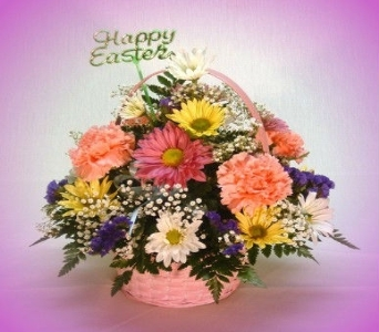 Medium Easter Basket in Ogdensburg NY, Basta's Flower Shop