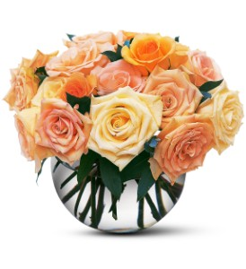 Perfect Pastel Roses in Metairie LA, Golden Touch Florist